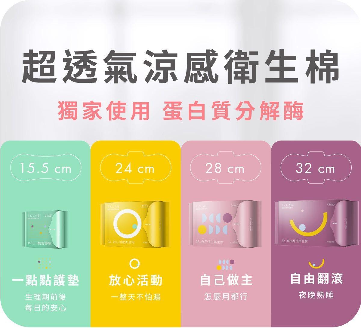 新品-涼感抑菌衛生棉,6/2正式上市